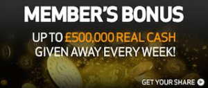 Members Bonus - BetVictor